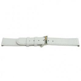 Horlogeband Universeel C500 Leder Wit 12mm