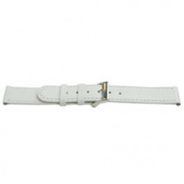 Horlogeband Universeel E500 Leder Wit 16mm