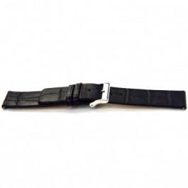 Horlogeband Universeel G145 Leder Zwart 20mm