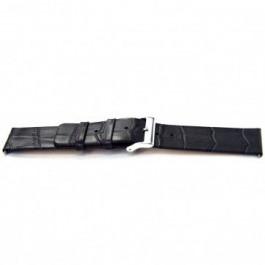 Horlogeband Universeel H810 Leder Grijs 22mm
