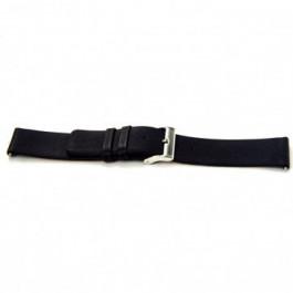 Horlogeband Universeel I105 Leder Zwart 24mm