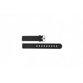 Horlogeband Jacob Jensen 732 / 742 / 743 / 640 / 641 / 660 / 662 / 680 / 681 Rubber Zwart 17mm