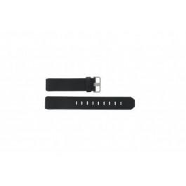 Horlogeband Jacob Jensen 600 / 800 / 890 Leder Zwart 17mm