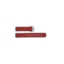 Horlogeband Jacob Jensen 800 Series Leder Rood 17mm