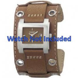Fossil horlogeband JR8149 Leder Bruin 18mm + standaard stiksel