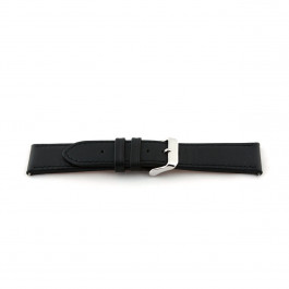 Horlogeband Universeel I010-XL Leder Zwart 24mm