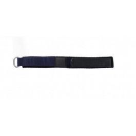 Horlogeband Universeel KLITTENBAND 412 14mm Klittenband Blauw 14mm