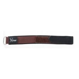 Horlogeband Condor KLITTENBAND 412R Onderliggend Klittenband Donkerbruin 20mm