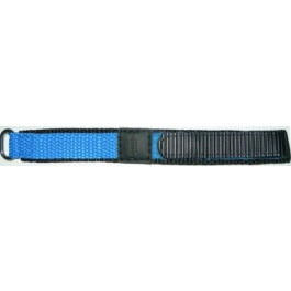 Horlogeband Condor KLITTENBAND 412R Licht Blauw Onderliggend Klittenband Blauw 20mm