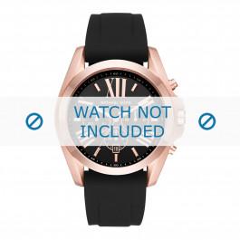 Michael Kors horlogeband MK8559 Rubber Zwart 24mm