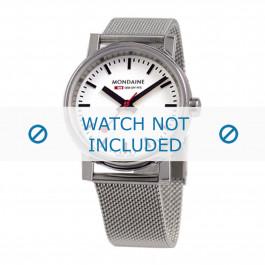 Horlogeband Mondaine BM20126 Staal 18mm