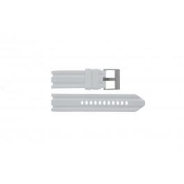 Horlogeband Nautica A15567G Rubber Wit 24mm
