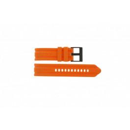 Horlogeband Nautica A17586G Rubber Oranje 24mm
