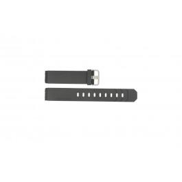Horlogeband Jacob Jensen 600 / 800 / 601 / 602 / 702 Rubber Zwart 19mm