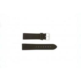 Horlogeband Universeel H372 Leder Bruin 22mm
