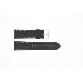 Horlogeband Universeel 307R.01 Leder Zwart 20mm