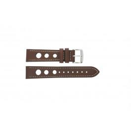 Horlogeband Universeel 682R.02 Leder Bruin 20mm