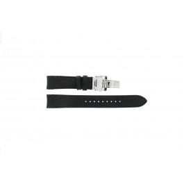 Horlogeband Seiko 7D46-0AB0 / SNP015P1 / 4LA8JB Leder Zwart 20mm