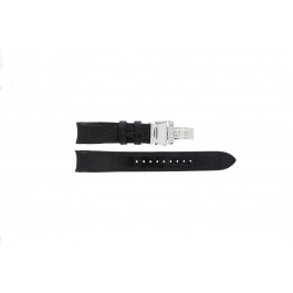 Horlogeband Seiko 7D48-0AA0 / 7T62-0FF0 / SNP005P1 / 4KK6JZ / 34H6JZ Leder Zwart 20mm