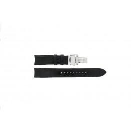 Horlogeband Seiko 6R20-00A0 / SPB005J1 Leder Zwart 21mm