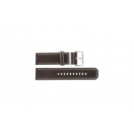 Horlogeband Seiko 7T62-0HM0 / SNAB71P1 / 4LP6JB Leder Bruin 24mm