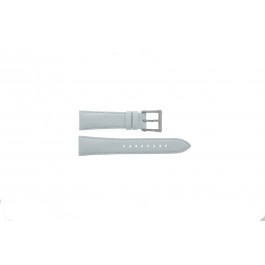 Seiko horlogeband 7T92-0KS0 Leder Wit 20mm