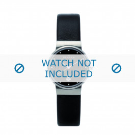 Horlogeband Skagen 355SSLB Leder Zwart 14mm