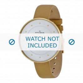 Skagen horlogeband SKW2137 Leder Beige 14mm