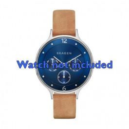 Skagen horlogeband SKW2310 Leder Bruin 14mm