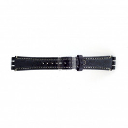 Horlogeband Swatch (alt.) ES.IRON-2.05 Leder Blauw 19mm
