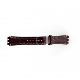 Horlogeband Swatch (alt.) ES.IRON-2.02 Leder Bruin 19mm