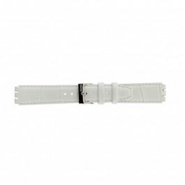 Horlogeband Swatch (alt.) 21414.11 Leder Wit 17mm