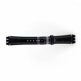 Horlogeband Swatch (alt.) ES.IRON-3.05 Leder Blauw 19mm