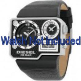 Horlogeband Diesel DZ7101 Leder Zwart 39mm
