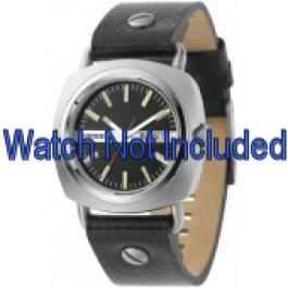 Horlogeband Diesel DZ2129 Leder Zwart 22mm