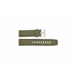 Horlogeband Timex T49822 / 2N726 / 2N724 / 28285 Leder/Textiel Groen 22mm