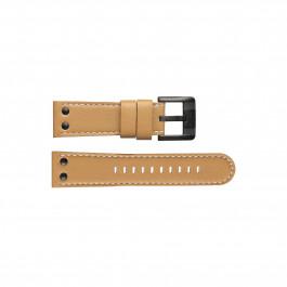 TW Steel horlogeband TWB66L Leder Bruin 24mm + wit stiksel