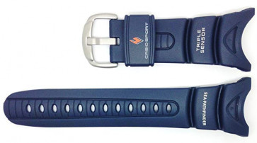 Horlogeband Casio 10158454 Kunststof/Plastic Blauw 24mm