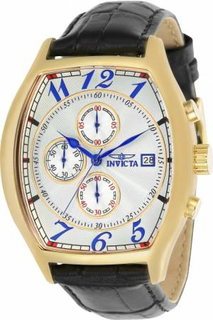 Horlogeband Invicta 14330.01 Leder Zwart 22mm