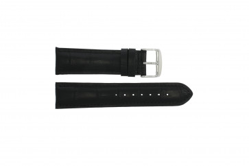 Echt leder kroko zwart 24mm 285.01