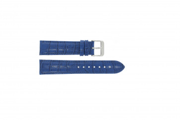 Echt leder kroko blauw 24mm PVK-285.05