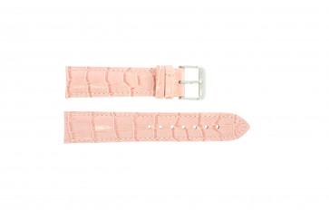 Echt leder kroko roze 22mm PVK-285