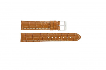Horlogeband Universeel 285R.27 Croco leder Bruin 22mm