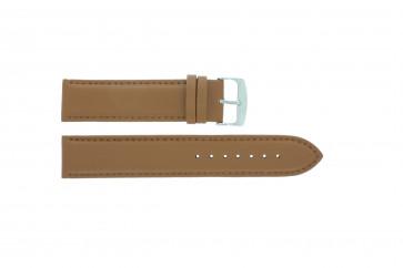 Horlogeband Universeel 302L.03 Leder Bruin 22mm
