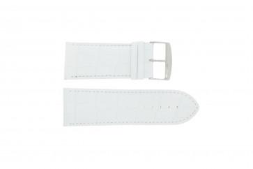 Horlogeband Universeel 305.09 Leder Wit 32mm