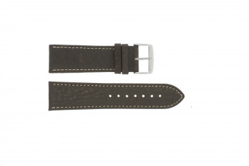 Horlogeband Universeel 307.02 Leder Bruin 22mm