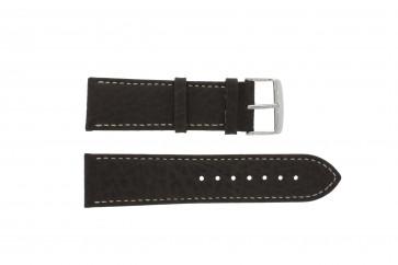 Horlogeband Universeel 307L.02 XL Leder Bruin 18mm