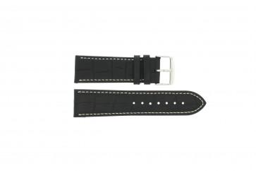 Horlogeband Universeel 308L.01 XL Leder Zwart 20mm