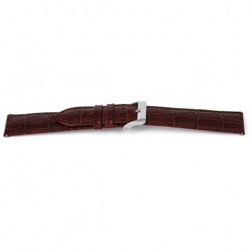 Echt lederen horloge band croco bruin 14mm EX-G62