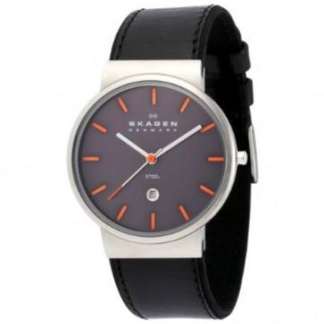 Horlogeband Skagen 351XLSLBMO Leder Zwart 20mm